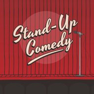stand up comedy live stage red curtain
