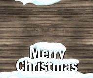 Winter Christmas Background Graphic With Snow