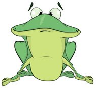 green frog cartoon
