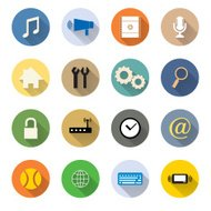 vector of various web icon flat design