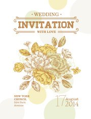 Vintage Peony Wedding Invitation