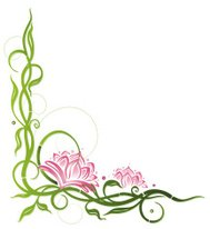 Lotus flowers with bamboo