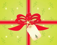 Christmas Tree Gift Wrap with Tag