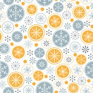 Snowflake pattern on white background