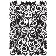 Beautiful Decorative Butterfly with Flowers and Leaves (Vector