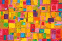 Colorful Image of an original Abstract Painting on Canvas
