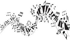 Music wave of music notes