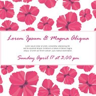 Invitation with delicate poppy buds and flowers vector