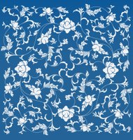 Chinese floral pattern