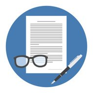 Contract Icon. Flat style illustration.