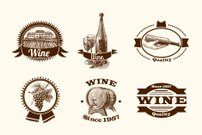 Wine sketch labels