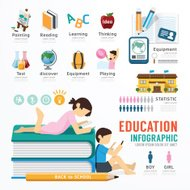 Infographic Education Template Design . Concept Illustration