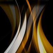 Yellow wave abstract background