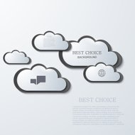 vector modern clouds infographic background