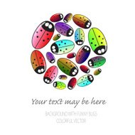 Many beetles  with text