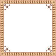 Decorative geometric frame