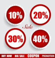 Sale Coupon, voucher, tag, sticker. Modern Style template Design