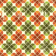 Vintage floral seamless pattern, geometric abstract backdrop