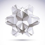 3D origami abstract object, vector abstract design element
