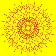 abstract yellow circle pattern for design
