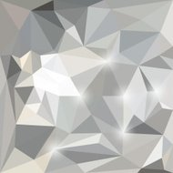 Abstract polygonal triangular background with glaring lights for
