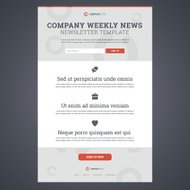 Company news newsletter template.
