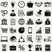 Business and finance icons. Vector set.