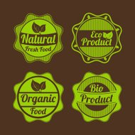 Set of organic and natural badges and labels.
