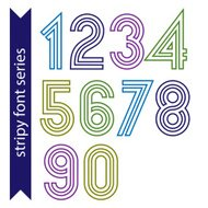 Sans serif geometric numbers created from parallel straight line