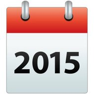 Calendar Icon with the year 2015
