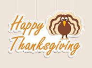 Greeting card design for Happy Thanksgiving Day celebration.
