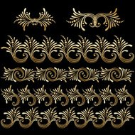 Vector set of vintage decorative elements.
