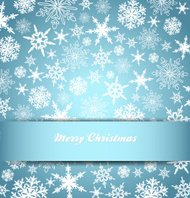 Snowflakes - Snowflake Christmas Card, Background