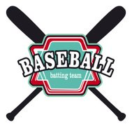 baseball batting team shield