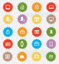 Website icon set,colour version,clean vector