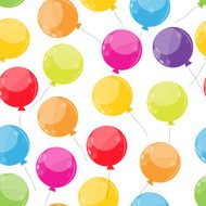 Color Glossy Balloons Seamles Pattern Background Vector Illustra