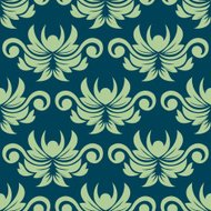 Persian paisley seamless floral pattern