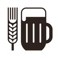 Beer glass and wheat ear symbol