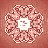 Vector illustration of elegance greeting card with arabesque