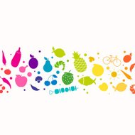 Vector Healthy Lifestyle Background
