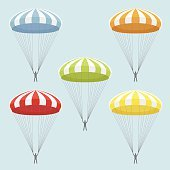 vector set of parachutes