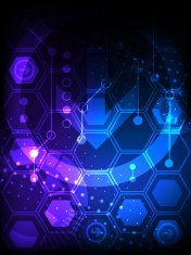 Abstract technological background with various