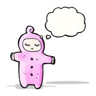 cartoon baby with thought bubble