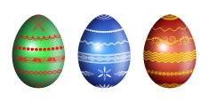 Easter eggs with ornament - illustration