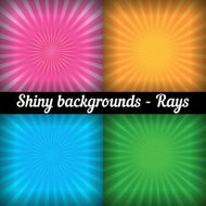 Rays. Sunburst Pattern. Vector set of different colors.