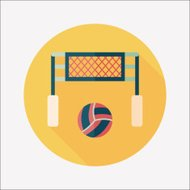 volleyball flat icon with long shadow,eps10