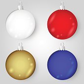 colorful christmas baubles eps10