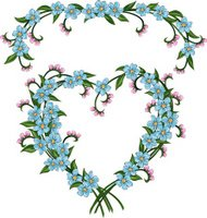 Forget-Me-Not Valentine Flower Heart