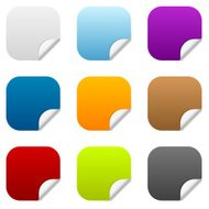 Colorful blank sticker icons