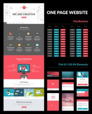 One page website design template